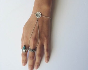 Mandala bracelet   slave bracelet   silver bracelet   charm bracelet