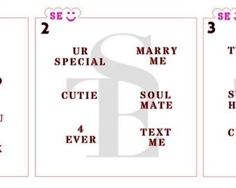 Valentine's Day Conversation Hearts Stencil