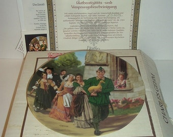 1984 Konigszelt Bayern Grimms Fairy Tales The Golden Goose Plate w COA and Box