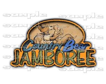 Disney Country Bear Jamboree   - Die Cut Title Scrapbook Page Paper Piece  gt