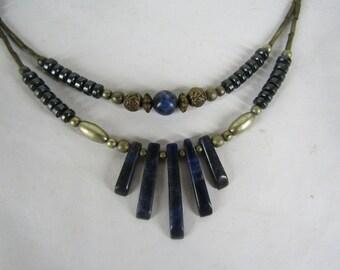 Vintage lapis lazuli necklace