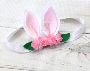 Easter Headband, Bunny Ears Headband, Easter Headband, Easter Bunny Headband, Bunny Ears, My First Easter, Baby Headband