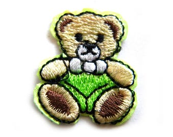 Teddy Bear Embroidered Patch Appliqué