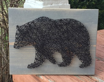 MADE TO ORDER Bear Silhouette String Art Sign