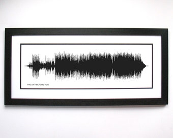 "The Day Before You - Rascal Flatts Song Sound Wave Art - Music Lyric Art - ""Now you're here and everything's changing"""