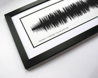 Heard It Through The Grapevine - Music Canvas Art & Song Lyrics Print - Sound Waveform, Musician Gift Idea, Song Wall Prints