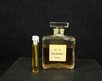 Vintage, Rare, Chanel No.5 Eau De Parfum, old perfume, sample, Vial/Spray, + free sample of Shalimar EDC,  discontinued, old formula