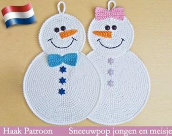 038NLY Sneeuwpop pannenlap - Amigurumi Crochet Pattern PDF file by Zabelina Etsy
