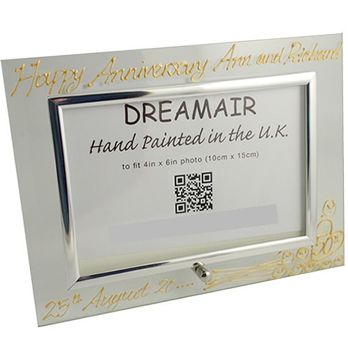 PERSONALISED 50th Golden Wedding Anniversary Gifts Flower