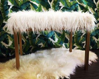 Custom Faux Fur Mongolian Bench **Made to Order**