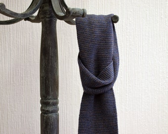 Children's Wool Scarf, Knitted Scarf, Short Scarf, Merino Scarf, Blue Grey