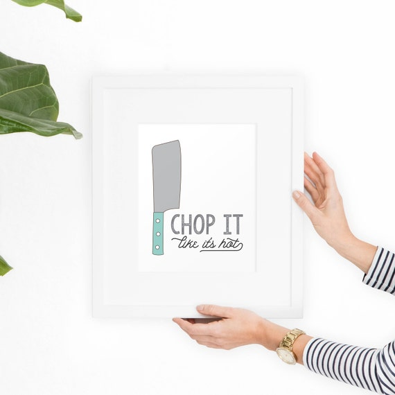 Kitchen Art Printable Wall Art Roll With It // Funny Wall