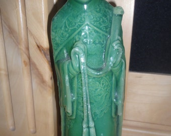 Jade Colored Chinese Priest Candle/Never Used