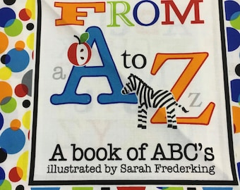 Fun With ABC's Soft Baby Book To Make by Studio E Designed by Sarah Frederking 3567P