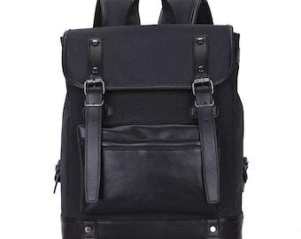 Large capacity leather bag, computer bag, travel bag