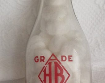 H B Dairy Products Frankfort, KY Milk Bottle Vintage