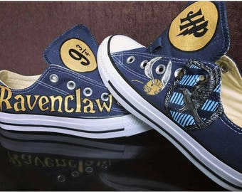 Custom Harry Potter Inspired Ravenclaw hand painted shoes