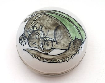Sleeping Dragon Trinket Box