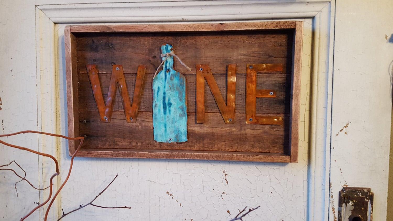 rustic wall decor wine decor pallet board sign wooden sign fixer upper home decor kitchen decor metal sign wine signs farmhouse sign - Metal Signs Home Decor