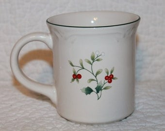 F2 Winterberry Pfaltzgraff Mug 14 Ounce Coffee Hot Chocolate Cocoa Tea Dishwasher and Microwave Safe