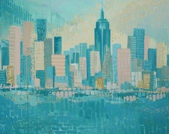 New York Clouded Skyline