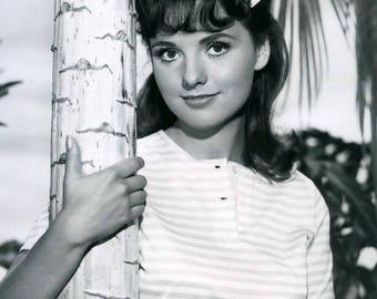 DAWN WELLS - Mary Ann of Gilligan's Island Autograph Signed autographed hand- signed trading card + 3 free photo with Alan Hale Bob Denver