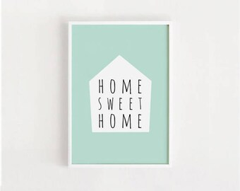 Home sweet home printable sign 8x10, 11x14, A4, A3 Minimalist Print, Wall Art, Typography, Home decor poster, DIY, INSTANT DOWNLOAD