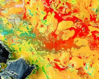 Large Acrylic Mixed Media Painting Living Room Art Modern Abstract Giclee Wall Print Original