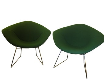 1950's Green Diamond Chairs by Harry Bertoia for Knoll