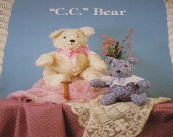 Cottage Crafts, Pattern, Bear Pattern, Doll Pattern, C C Bear, Stuffed Bear Doll, Vintage Pattern, Vintage Sewing, Patterns, Crafts, Vintage