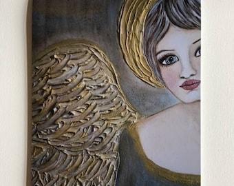 "Fine art print on Satin Luster paper 8"" x 12"" ready to frame ""Let there be light"" Portrait by Deborah Bowe DCBArtstudio"