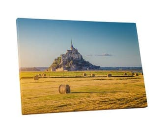 Castles and Cathedrals Normandy France Le Mont Saint-Michel Gallery Wrapped Canvas Print