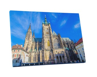 Castles and Cathedrals Prague Czech Republic St. Vitus Cathedral Gallery Wrapped Canvas Print