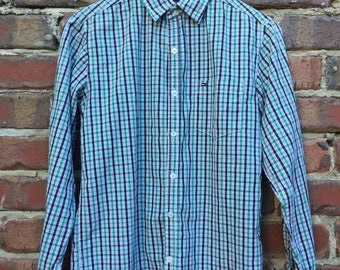 Tommy Hilfiger Check Long Sleeve Shirt Green and Black