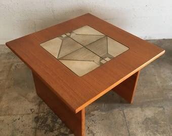 Vintage Gangso Mobler Mid-Century Danish Modern Tile Top Side Table