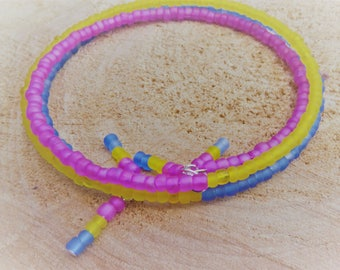 NEW 2017 Frosted Glass Pansexual Memory Bracelet LGBT