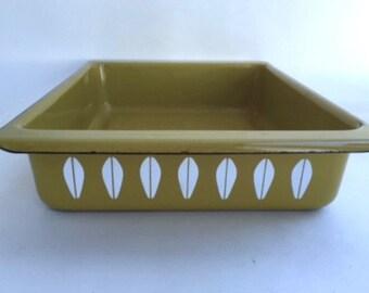 Green Catherine Holm Enamel Rectangular Casserole pan
