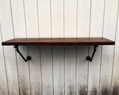 The Lodge Mantel Wall Mounted Bar Table Shelf Reclaimed Wood Bookshelf Floating Shelf Bar Pub Table