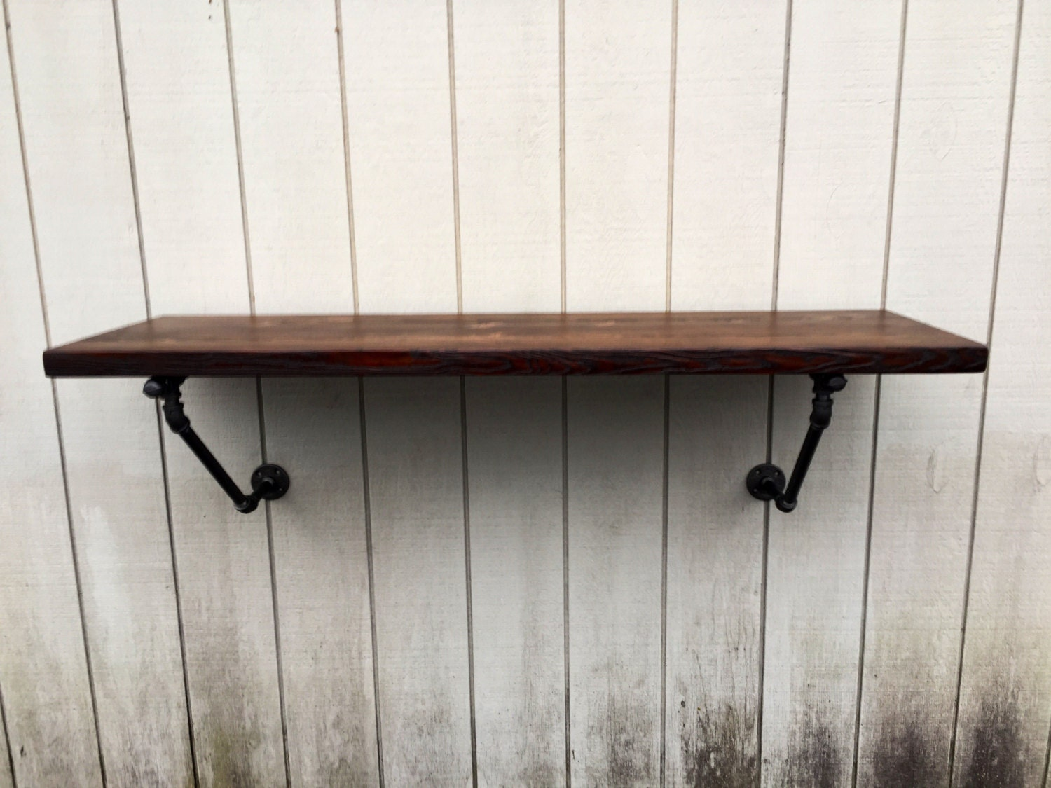 The Lodge Mantel Wall Mounted Bar Table Shelf Reclaimed Wood