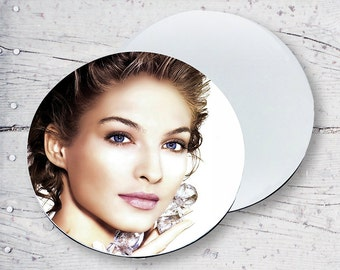 Gorgeous Lady Round Personalized Sublimation Coaster SB68-18