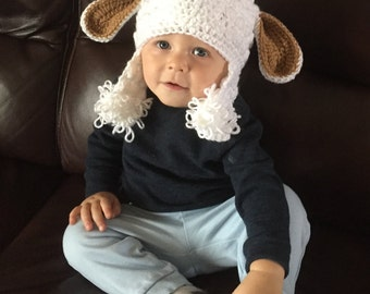 Crochet Pattern Goat Hat