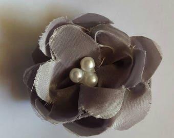 Grey flower barrette