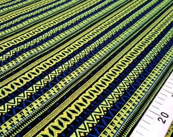 Mosaic blue and phosphorus jacquard fabric #1110