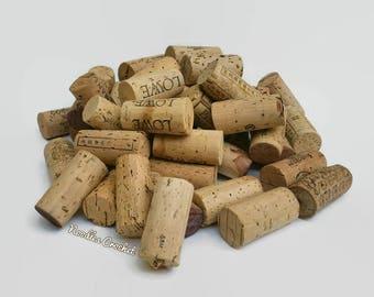 Wine corks, used wine corks, natural corks, 50 or 100 wine corks, cork craft, wine cork craft, craft supplies, DIY craft, DIY project
