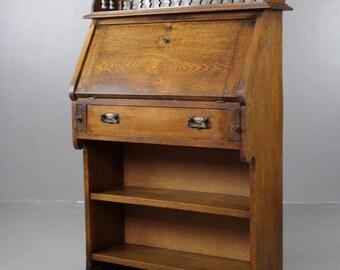 Oak Students Bureau Bookcase