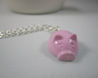 Pink Piggy Necklace - Pendant