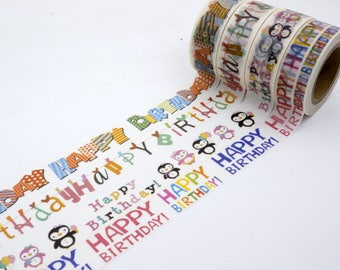 SALE!! Happy Birthday Washi Tape/Deco Masking Tape/Planner Sticker/ Scrapbook Tape/ Deco tape   TZ1746
