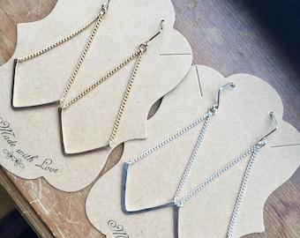 Swing Style V Dangle Earrings