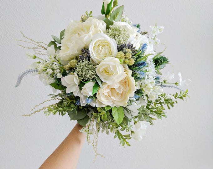Featured listing image: Wedding Bouquet, Bridal Bouquet, Bridesmaid Bouquet, Silk Flower Bouquet, Wedding Flowers, Silk Bouquet, Wedding Package, Flower Bouquet