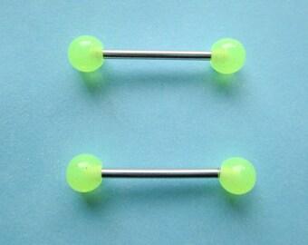 Glow in the dark nipple ring, Nipple piercing, glow nipple piercing , Nipple jewelry, glow nipple jewelry, Nipple ring, Boho nipple ring